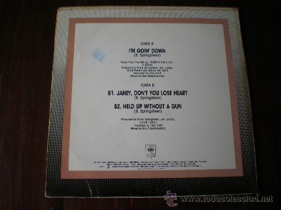 Discos de vinilo: BRUCE SPRINGSTEEN - IM GOING DOWN / JANEY, DONT YOU LOSE HEART /...- (ESPAÑA-CBS-1985) MAXI LP - Foto 2 - 23338362