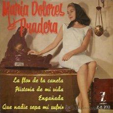 Discos de vinilo: MARIA DOLORES PRADERA EP SELLO ZAFIRO AÑO 1961. Lote 9442730