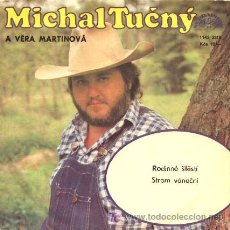 Discos de vinilo: MICHAL TUCNY ··· RODINNE STESTI / STROM VANOCNI - (SINGLE 45 RPM) ··· CANTANTE CHECOSLOVACO. Lote 20345614