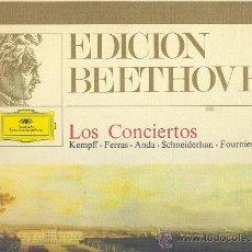 Discos de vinilo: EDICION BEETHOVEN LOS CONCIERTOS CAJA 6 LP MAS LIBRETO EN ESPAÑOL D.GRAMMOPHON 2720008 197E SPA. Lote 91716917
