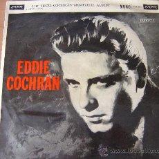 Discos de vinilo: THE EDDIE COCHRAN MEMORIAL ALBUM ¡¡¡¡1ª EDICION ORIGINAL 1960!!!! GENE VINCENT ELVIS BUDDY HOLLY. Lote 26418273