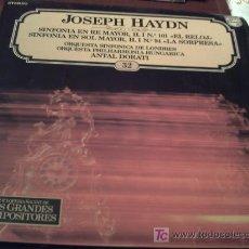Discos de vinilo: JOSEPH HAYDN/LOS GRANDES COMPOSITORES SALVAT Nº32. Lote 9503368