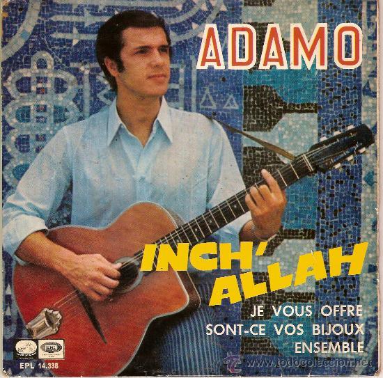 ADAMO EPL 14338 INCH ' ALLAH Y OTRAS (Música - Discos - Singles Vinilo - Otros estilos)