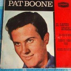 Dischi in vinile: PAT BOONE (EL RAPIDO GONZALEZ - EL RELICARIO - FUERTE VIENTO FRIO - AQUEL ES MI DESEO) 1962-SPAIN. Lote 10822712