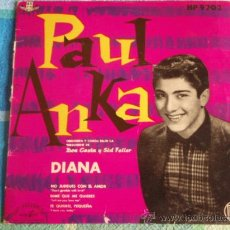 Discos de vinilo: PAUL ANKA (DIANA - NO JUEGUES CON EL AMOR - DIME QUE ME QUIERES - TE QUIERO PEQUEÑA) 1959 EP45. Lote 10822713