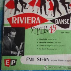 Discos de vinilo: ÉMIL STERN ET SON PIANO MAGIQUE (LIMELIGHT - MUSIQUE Á VENDRE - ANNA - LA SAINT-BONHEUR) EP45. Lote 9557778