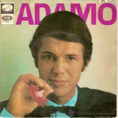 Discos de vinilo: ADAMO EPL 14376 LE NEON UNE LARME AUX NAUGES VIVRE DIS MA MUSE. Lote 20432791