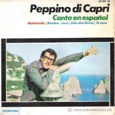 Discos de vinilo: PEPPINO DI CAPRI - CANTA EN ESPAÑOL - MELANCOLIA *** EP HISPAVOX 1964. Lote 12481595