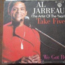 Discos de vinilo: AL JARREAU ( TAKE FIVE - WE GOT BY ) SINGLE45 1977 GERMANY. Lote 9581828