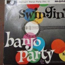 Discos de vinilo: BIG BEN BANJO BAND, THE MICHAEL SAMMES SINGERS ?– SWINGIN' BANJOS, UK EP COLUMBIA. Lote 9582645