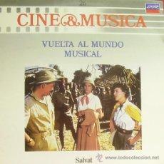 Disques de vinyle: BSO-VUELTA AL MUNDO MUSICAL (CINE Y MUSICA 26) LP 1987 SPAIN. Lote 9589986