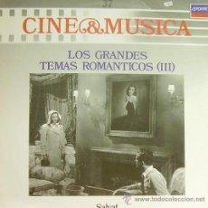 Disques de vinyle: BSO-LOS GRANDES TEMAS ROMANTICOS III (CINE Y MUSICA 37) LP 1987 SPAIN. Lote 54466739