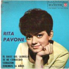 Discos de vinilo: RITA PAVONE - EL BAILE DEL LADRILLO ***RCA VICTOR 1963. Lote 12794840