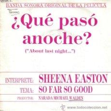 Discos de vinilo: BSO ¿QUE PASO ANOCHE? SINGLE 1980 PROMOCIONAL. Lote 9594662
