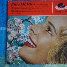 Discos de vinilo: JOE C. PRIMA ( BITTE MEHR PIANO-POTPOURRI ) EP45 GERMANY POLYDOR. Lote 9623724