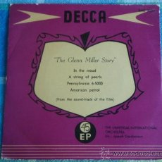Discos de vinilo: THE UNIVERSAL-INTERNATIONAL ORCHESTRA BY JOSEPH GERSHENSON 'THE GLENN MILLER STORY' (IN THE MOOD -. Lote 9627321