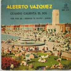Discos de vinilo: ALBERTO ALVAREZ - AMOR **** ODEON 1962. Lote 14570667