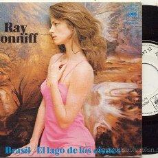 Discos de vinilo: SINGLE PROMO PORTADA DOBLE 45 RPM / RAY CONNIFF / BRASIL -EL LAGO DE LOS CISNES // CBS . Lote 23223990
