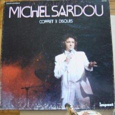 Discos de vinilo: MICHEL SARDOU - ESTUCHE CON TRES DISCOS. Lote 22749708
