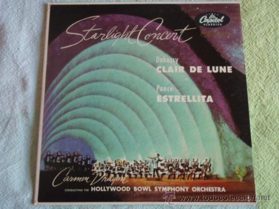 CARMEN DRAGON CONDUCTING THE OLLYWOOD BOWL SYMPHONY OCHESTRA (CLAIR DE LUNE - ESTRELLITA) (Música - Discos - Singles Vinilo - Orquestas)
