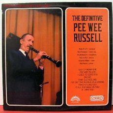 Discos de vinilo: PEE WEE RUSSELL ( THE DEFINITIVE PEE WEE RUSSELL ) FRANCE LP33 AMERICA RECORDS. Lote 1026056
