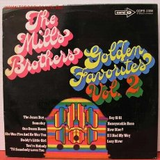 Discos de vinilo: THE MILLS BROTHERS' ( GOLDEN FAVORITES VOL.II ) LP33. Lote 1033376