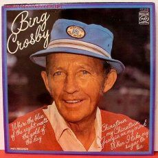 Discos de vinilo: BING CROSBY ( WHERE THE BLUE OF THE NIGHT MEETS THE GOLD OF THE DAY ) LP33. Lote 1035265