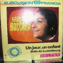Discos de vinilo: EUROVISION 1969 FRANCIA FRIDA BOCCARA. Lote 26458920