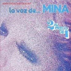 Discos de vinilo: MINA DISCO LP DOBLE PORTADA DOBLE LA VOZ DE MINA. Lote 25138786
