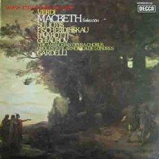 Discos de vinilo: VERDI : MACBETH (SELECCIÓN). Lote 20957140
