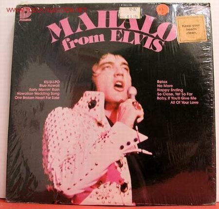 ELVIS PRESLEY (MAHALO FROM ELVIS ) USA LP33 RCA (Música - Discos - LP Vinilo - Rock & Roll)