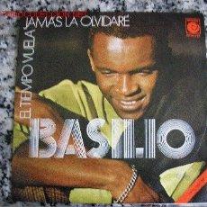 Discos de vinilo: BASILIO EL TIEMPO VUELA / JAMÁS LA OLVIDARÉ. Lote 25863927