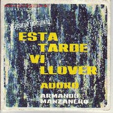 Discos de vinilo: ARMANDO MANZANERO DISCO SINGLE. Lote 23343219
