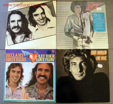 LOTE 4LP 33RPM ( BARRY MANILOW; ''BARRY'' Y ''ONE VOICE'' ) & ( BELLAMY BROTHERS; ''FEAUTURING LET (Música - Discos - LP Vinilo - Disco y Dance)