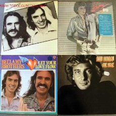 Discos de vinilo: LOTE 4LP 33RPM ( BARRY MANILOW; ''BARRY'' Y ''ONE VOICE'' ) & ( BELLAMY BROTHERS; ''FEAUTURING LET. Lote 2007512
