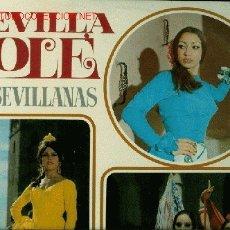 Discos de vinilo: DISCO L. P. DE VINILO SEVILLA Y OLÉ, SEVILLANAS, DE INTÉRPRETES VARIOS. DE BELTER. . Lote 24951103