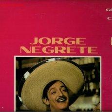 Discos de vinilo: DISCO L. P. DE VINILO DE JORGE NEGRETE: LA BURRITA, EL DESTERRADO, AGUA DEL POZO, EL GALLERO, AY, JA. Lote 24971237