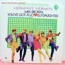 Discos de vinilo: HERMAN'S HERMITS IN MRS. BROWN, YOU'VE GOT A LOVELY DAUGHTER LP33 USA. Lote 1099672