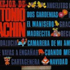 Discos de vinilo: DISCO L. P. DE VINILO LO MEJOR DE ANTONIO MACHÍN: ANGELITOS NEGROS, DOS GARDENIAS, ENVIDIA, EL MANIS. Lote 24993601
