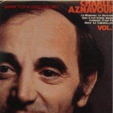 Discos de vinilo: 2 DISCOS L. P. DE VINILO DE CHARLES AZNAVOUR, VOL. 1 : LA MAMMA, LE TOREADOR, QUE C'EST TRISTE VENIS. Lote 24753773