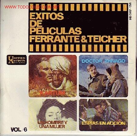 EXITOS DE PELICULAS FERRANTE&TEICHER DISCO EP BANDA SONORAS (Música - Discos de Vinilo - EPs - Bandas Sonoras y Actores)