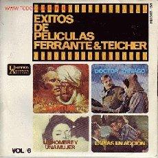 Discos de vinilo: EXITOS DE PELICULAS FERRANTE&TEICHER DISCO EP BANDA SONORAS. Lote 11915902
