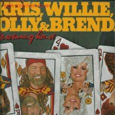 Discos de vinilo: 2 DISCOS L. P. DE VINILO DE KRIS KRISTOFFERSON, WILLIE NELSON, DOLLY PARTON Y BRENDA LEE: …THE WINNI. Lote 24951101