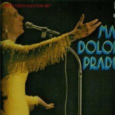 Discos de vinilo: DISCO DE VINILO L. P. DE MARÍA DOLORES PRADERA, CANCIONES ESPAÑOLAS: NO ME DIGAS QUE NO, LA HIJA DE. Lote 24993610