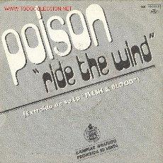 Discos de vinilo: UXV POISON - SINGLE PROMOCIONAL - RIDE THE WIND. Lote 22264001