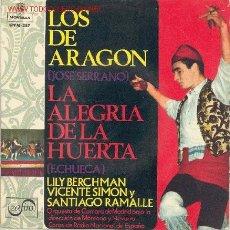 Discos de vinilo: LA ALEGRIA DE LA HUERTA. Lote 1166251