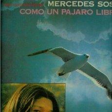 Discos de vinilo: DISCO DE VINILO L. P. DE MERCEDES SOSA, COMO UN PÁJARO LIBRE: COMO UN PÁJARO LIBRE, DULCE MADERA CAN. Lote 25404544