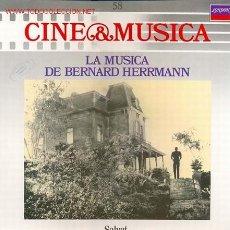 Disques de vinyle: CINE & MUSICA, LA MUSICA DE BERNARD HERRMANN, VER TEMAS SELECCIONADOS EN EL INTERIOR. Lote 24197158