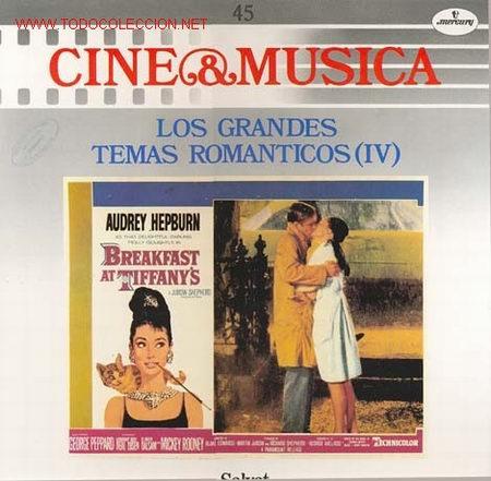 CINE & MUSICA -LP-LOS GRANDES TEMAS ROMANTICOS - TEMAS SELECCIONADOS DE LAS PELICULAS: DESAYUNO (Música - Discos - LP Vinilo - Bandas Sonoras y Música de Actores )