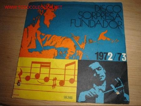 DISCO SINGLE CON 4 CANCIONES -SORPRESA FUNDADOR- VILLANCICOS ORFEÓN INFANTIL DE ESPAÑA. AÑO 1972. (Música - Discos - LPs Vinilo - Música Infantil)
